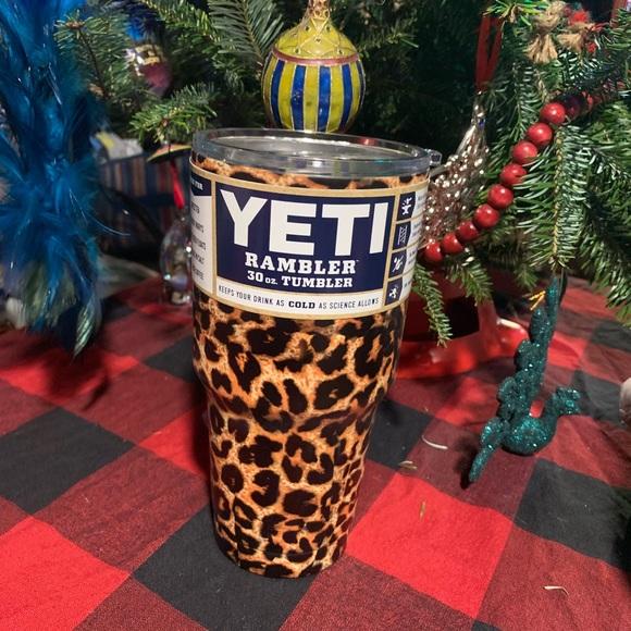 ae04223ba50 Yeti Accessories | Cheetah Print Leopard Rambler New Gift | Poshmark